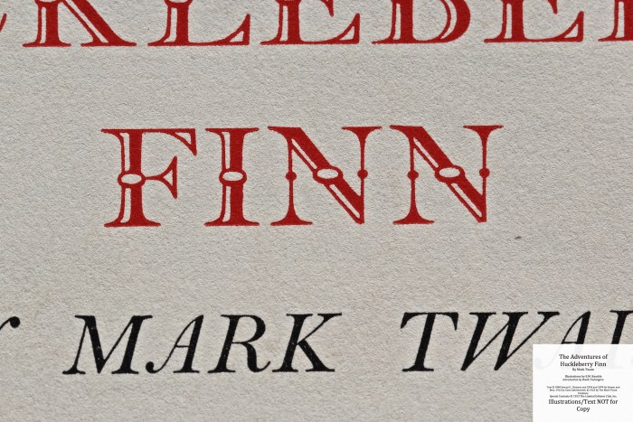 The Adventures of Huckleberry Finn, Limited Editions Club (1933), Macro of Title Page