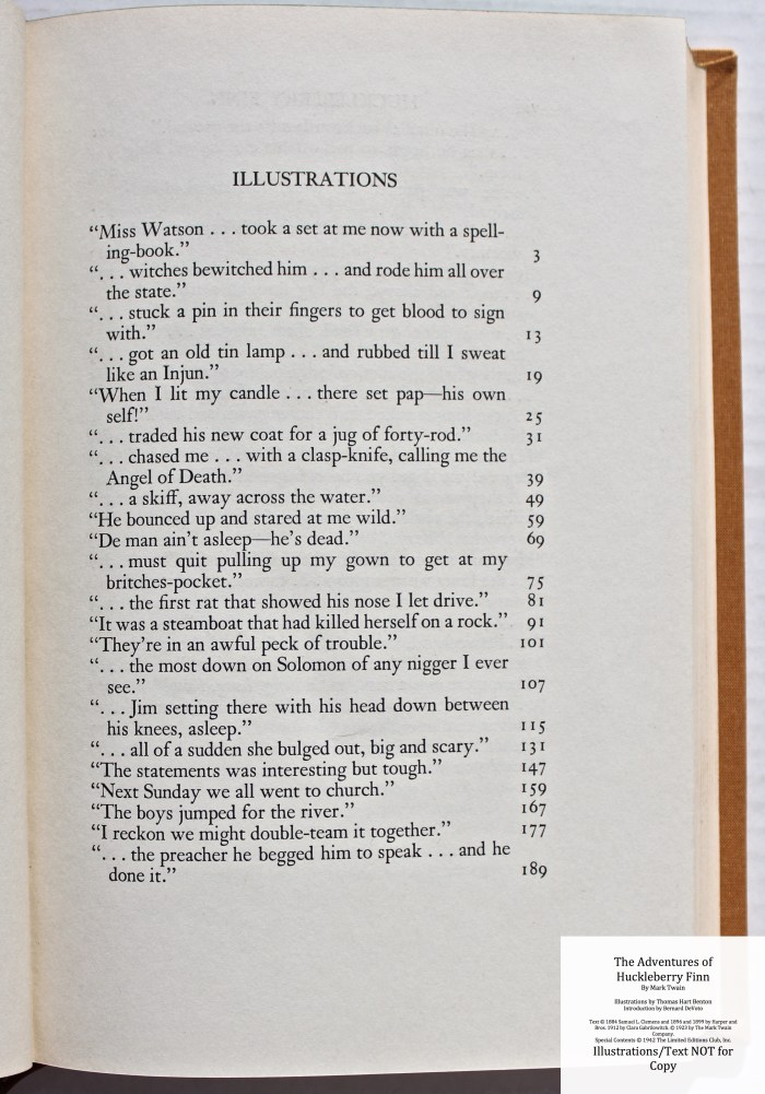 The Adventures of Huckleberry Finn, Limited Editions Club (1942), Sample Text #2 (Illustrations)
