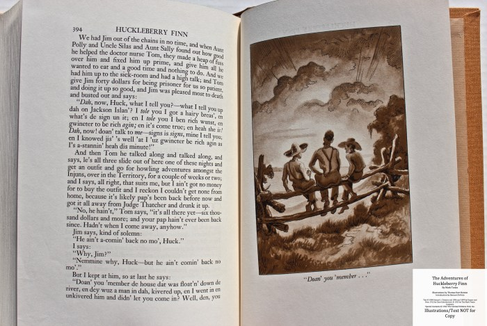 The Adventures of Huckleberry Finn, Limited Editions Club (1942), Sample Illustration #8 with Text