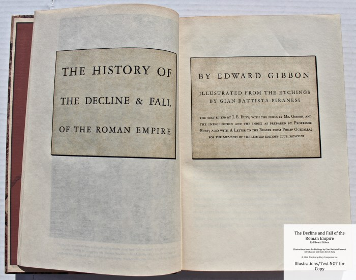The Decline and Fall of the Roman Empire, Limited Editions Club, Title Page