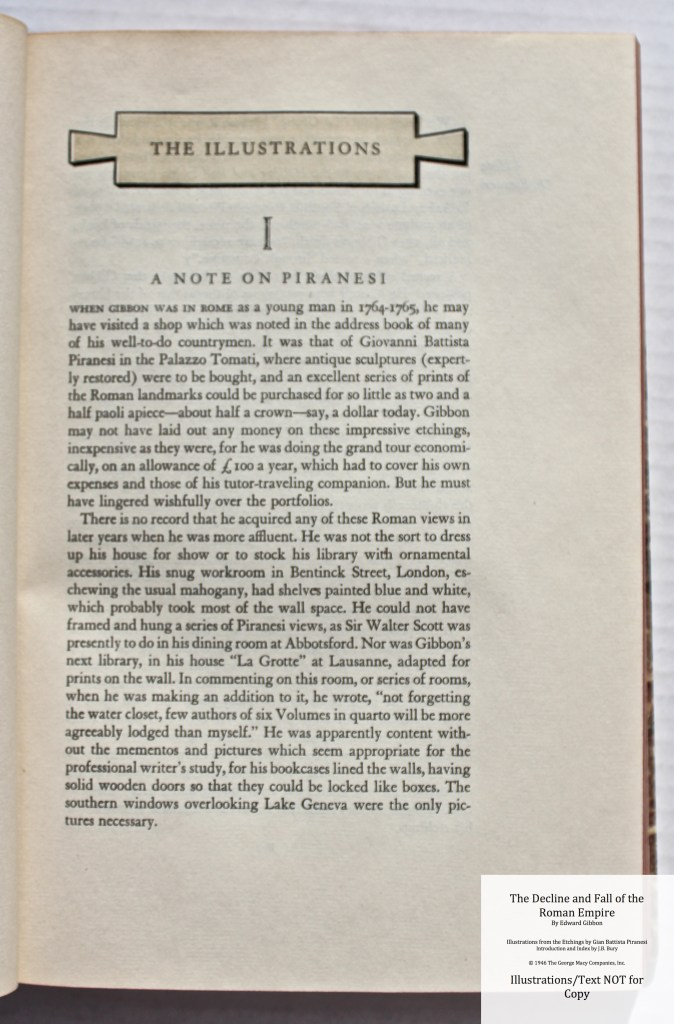 The Decline and Fall of the Roman Empire, Limited Editions Club, Sample Text #4
