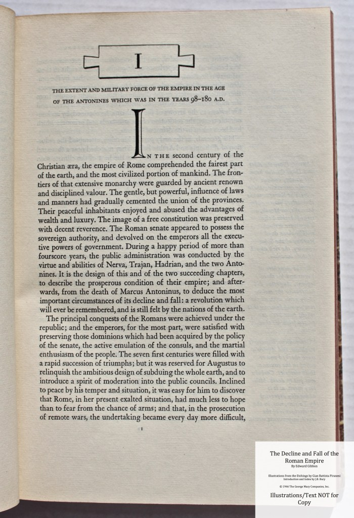 The Decline and Fall of the Roman Empire, Limited Editions Club, Sample Text #6