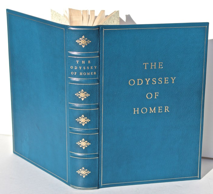 The Odyssey, Limited Editions Club, Spine and Covers