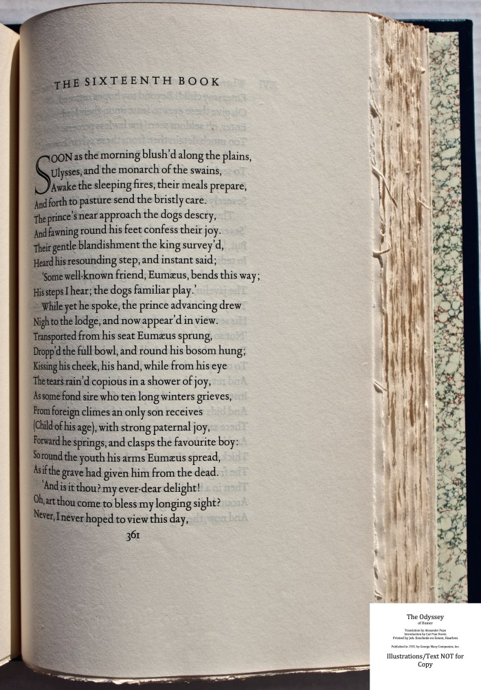 The Odyssey, Limited Editions Club, Sample Text #6