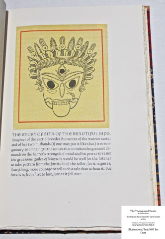 The Transposed Heads, The Allen Press, Sample Decoration with Text #1