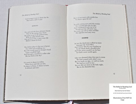 The Ballad of Reading Gaol, The Old Stile Press, Sample Text #1