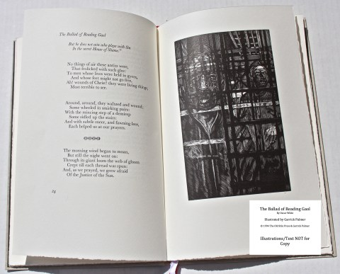 The Ballad of Reading Gaol, The Old Stile Press, Sample Illustration #2 with Text