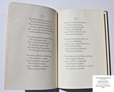 The Ballad of Reading Gaol, The Limited Editions Club, Sample Text #2