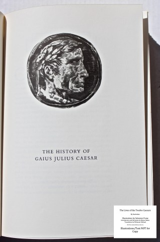 The Lives Of The Twelve Caesars, Limited Editions Club, Sample Illustration #1