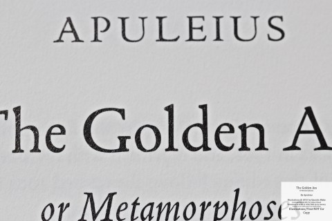 The Golden Ass, The Folio Society, Macro of Title Page