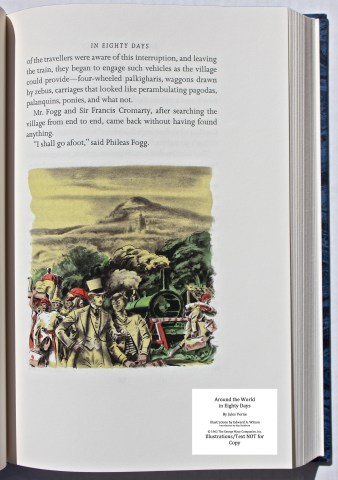 Around the World in Eighty Days, Limited Editions Club, Sample Illustration #6 with Text