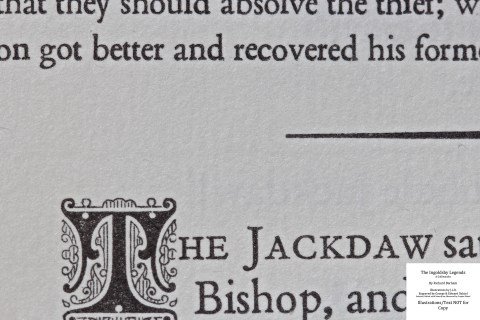The Ingoldsby Legends, Barbarian Press, Macro of Sample Text #2