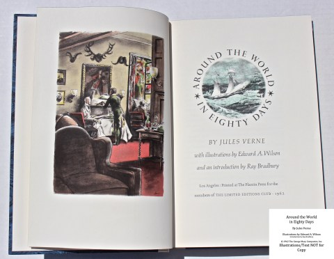 Around the World in Eighty Days, Limited Editions Club, Frontispiece and Title Page