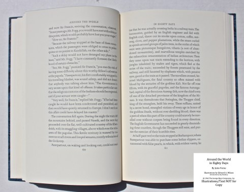 Around the World in Eighty Days, Limited Editions Club, Sample Text #3
