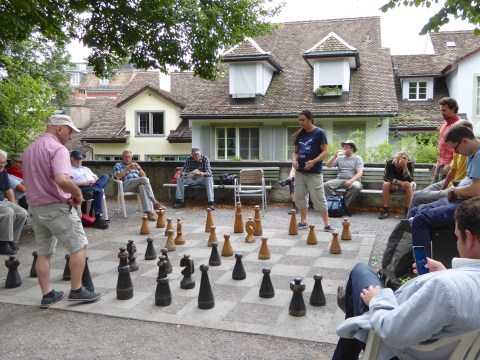 Photo 70: A spirited game of chess in Lindenhof Park