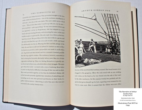 The Narrative of Arthur Gordon Pym, Limited Editions Club, Sample Illustration #2 with Text