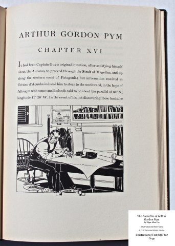 The Narrative of Arthur Gordon Pym, Limited Editions Club, Sample Illustration #6 with Text