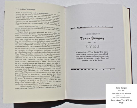 Tono-Bongay, Arion Press, Sample Advertisement #3 with Text
