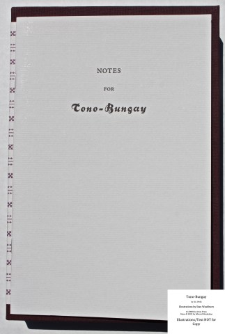Tono-Bongay, Arion Press, Notes Cover