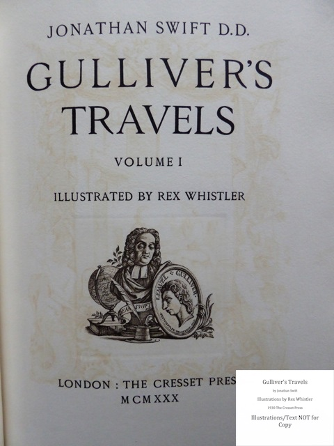 Gulliver's Travels, Cresset Press, Title page - recto