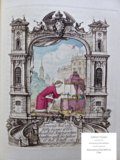 Gulliver's Travels, Cresset Press, Sample Illustration #2