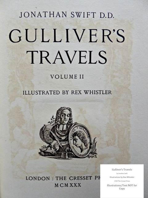 Gulliver's Travels, Cresset Press, Title page of Vol. 2 - recto page