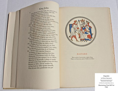 King John, Limited Editions Club, Sample Illustration #1 with Text