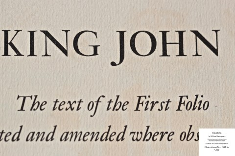 King John, Limited Editions Club, Macro of Title Page