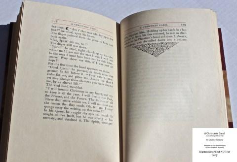 A Christmas Carol, The Roycroft Shop, Sample Text #7 with Decoration