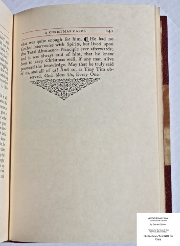 A Christmas Carol, The Roycroft Shop, Sample Text #9 with Decoration