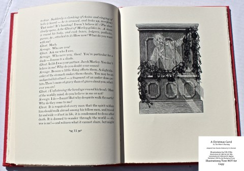 A Christmas Carol, Barbarian Press, Sample Illustration #2 with Text