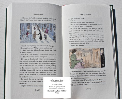 A Christmas Carol, Hand & Eye Editions, Sample Illustration #8 with Text