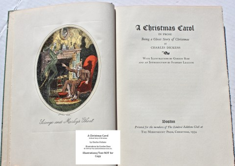 A Christmas Carol, Limited Editions Club, Frontispiece and Title Page