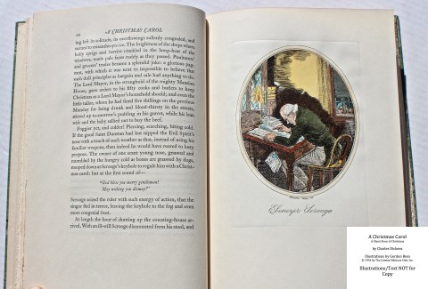 A Christmas Carol, Limited Editions Club, Sample Illustration #2 with Text