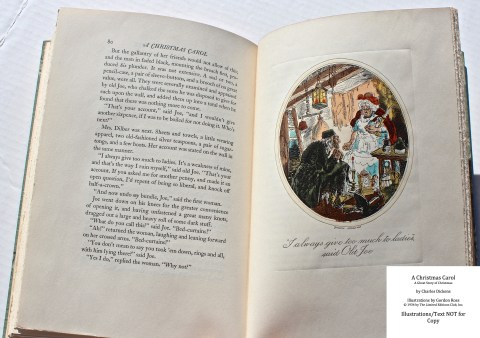 A Christmas Carol, Limited Editions Club, Sample Illustration #7 with Text