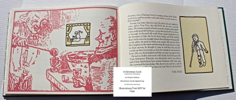 A Christmas Carol, Arion Press, Sample Illustration #9 with Text