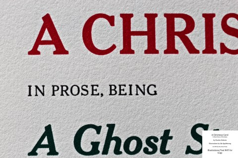 A Christmas Carol, Arion Press, Macro of Title Page