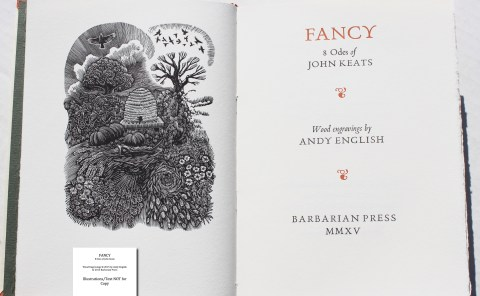 Fancy: 8 Odes of John Keats, Barbarian Press, Frontispiece and Title Page