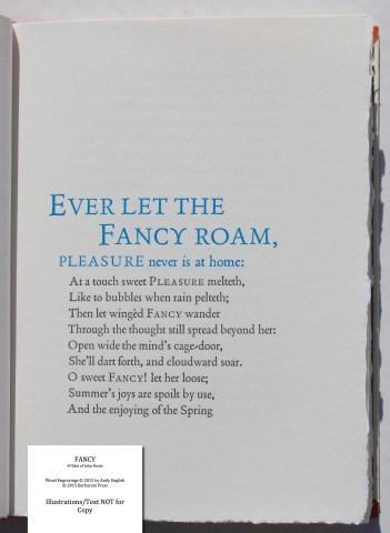 Fancy: 8 Odes of John Keats, Barbarian Press, Sample Text #2 (Fancy)