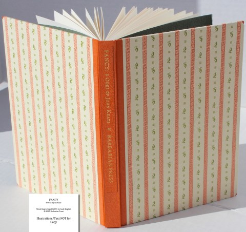 Fancy: 8 Odes of John Keats, Barbarian Press, Cover and Spine (Deluxe)
