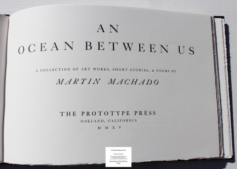 An Ocean Between Us, The Prototype Press, Title Page