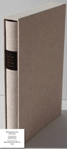 Bibliography of the Arion Press, Arion Press, Book in Slipcase