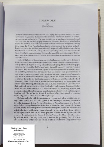 Bibliography of the Arion Press, Arion Press, Sample Text #2 (Foreward)