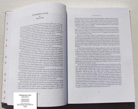 Bibliography of the Arion Press, Arion Press, Sample Text #3 (Introduction)