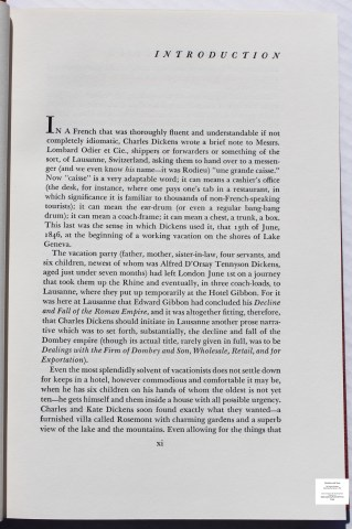 Dombey and Son, Limited Editions Club, Sample Text #4 (Introduction)