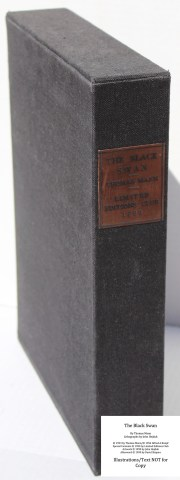 The Black Swan, Limited Editions Club, Slipcase Spine (custom)