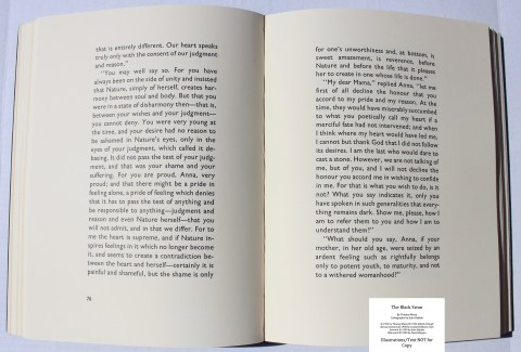 The Black Swan, Limited Editions Club, Sample Text #2