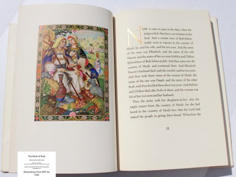The Book of Ruth, Limited Editions Club, Sample Illustration #1 with Text