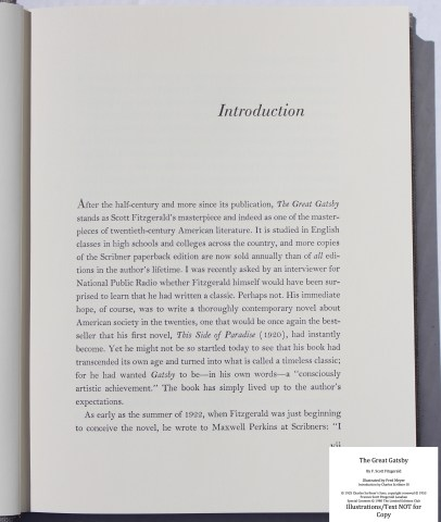 The Great Gatsby, Limited Editions Club, Sample Text #1