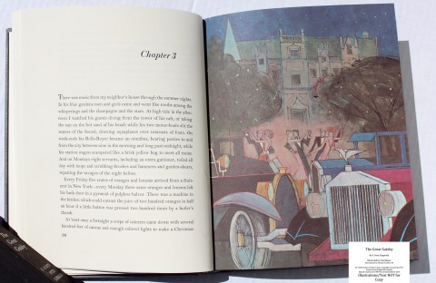 The Great Gatsby, Limited Editions Club, Sample Illustration #3 with Text